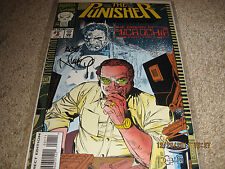 Punisher Origin of Micro-Chip #1 signed by Art Nichols with Coa! Look!