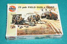 25 Pounder Field Gun + Quad Airfix HO/OO Factory Sealed.