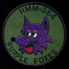 USMC HMM-364 Purple Foxes Patch J-1