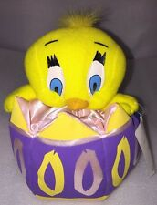 New Play By Play Looney Tunes Easter Baby Tweety Bird Toy Purple Egg Plush 1997