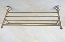 Antique Brass Bathroom Accessory Towel Rail Holder Storage Shelf Bar aba771