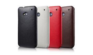 ETUI DE LUXE ICARER MODELE SIDE OPEN POUR HTC ONE M7
