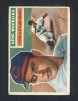1956 Topps #163 Gene Woodling EX/EX+ Indians 94523