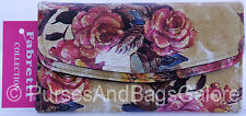 Fabretti Floral Design Faux Leather Purse/Wallet