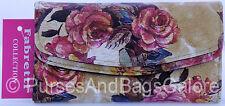 Fabretti Floral Design Faux Leather Purse/wallet