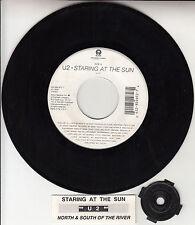 "U2  Staring At The Sun 7"" 45 rpm vinyl record + juke box title strip RARE!"