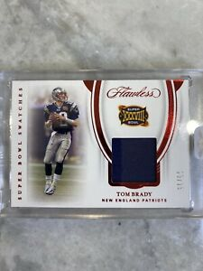 Tom Brady Patch 3/15 Super Bowl Swatches 2020 Panini Flawless No. SBS1