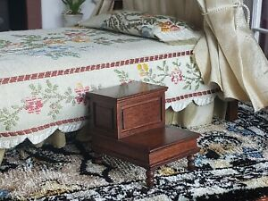 Dollhouse Miniature Artisan Roger Gutheil Bed Steps Signed 1:12