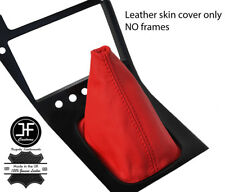 RED TOP GRAIN REAL LEATHER GEAR GAITER FITS S13 240SX 200SX 180SX 1988-1993