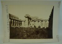 GIORGIO SOMMER 1834 - 1914 BASILICA PAESTUM - OLD VINTAGE PHOTO