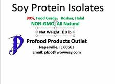 Soy Protein Isolates powder (90),  1.0 lb, Non-GMO, in re-sealable pouch