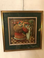 "Print Gorgeous""Santa Elf"" artist Hand Signed 23""x23"".See12pix4details.MAKE OFFER"