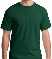 Green T-Shirt Mens Cotton Crew Neck Short Sleev Tee Shirt Top Adult Casual S-7XL