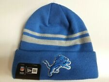 Detroit Lions New Era Knit Hat Striped Cuff Beanie Stocking Cap NFL