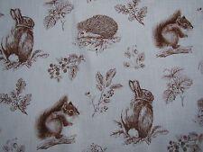 "SANDERSON CURTAIN FABRIC DESIGN ""Squirrel & Hedgehog"" 3.4 METRES HENNA/WHEAT"