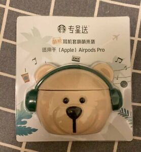Starbucks Bear Head Siliconn Portable Case Protector For Apple AirPods Pro