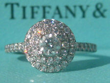 TIFFANY & CO. PLATINUM SOLESTE ENGAGEMENT WEDDING DIAMOND BAND RING 5.5