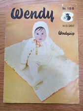 Vintage Knitting Pattern 1960s Baby Pram Set Wendy Wisp 18 / 22 inch Babies