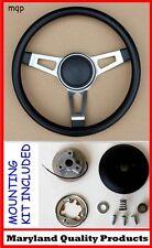 "1970 - 1976 Dart Duster Grant 3 Spoke Tuff Black Steering Wheel 15"""