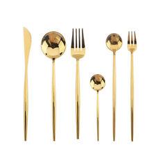 Starbucks Cutlery Set Gold Plated Dinnerware Fork Spoon Chopsticks LIMITED 2019