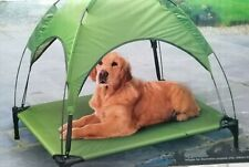 Raised Dog Bed With Canopy Sun Protector Pet Bed Outdoor Waterproof - Green