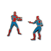 SDCC 2020 Marvel Spider-Man 1960 Style Pointer-Man 2 Pin Set Enamel Pin Figure