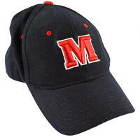 Zephyr Maryland University UM Terrapins Football Hat Black Medium Fitted 6 7/8