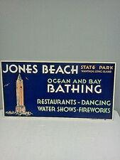 VTG 1940's/50's Jones Beach St.Park Wantagh,NY ,bus,train,Advertising Card,NOS