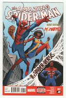 Amazing Spider-Man #7 (Marvel 2014) Ms. Marvel - 1st Spidey-UK & Earth-833