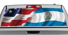Truck Rear Window Decal Graphic [American Pride, El Salvador] 20x65in DC86003