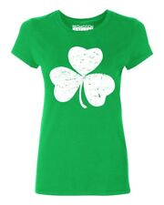Irish Shamrock Distressed Women's T-shirt funny drinking St. Patrick's Day tee