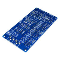 DIY Kit Audio Power Amplifier NE5532 HIFI Volum Control Stereo PCB Board Blue