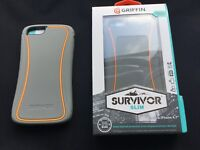 "GRIFFIN SURVIVOR SLIM TOUGH CASE COVER FOR 4.7"" IPHONE 6,6s &5.5""6plus1YrWarrant"