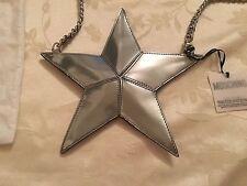 SS16 Moschino Couture X Jeremy Scott Silver Star CLUTCH Pouch Bag SUPER RARE!!