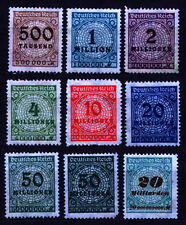 Germany (DR) 1923 Mi 313-329 Inflation Series - NG