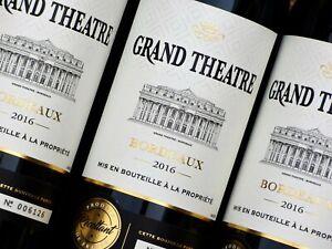 Bordeaux Wein  GRAND THEATRE 2016  - 6 Fl.  Medaille d`Or    GP 8,87 €/Li