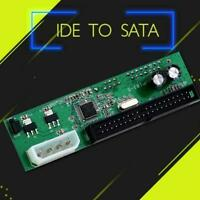 PATA IDE TO SATA Converter Adapter Plug&Play 7+15 Pin 3.5/2.5 DVD Best HDD N0U6