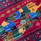 Handmade Afghan Map Accent Rug Geometric Tribal Design 4x6 Natural Dyes Nomadic