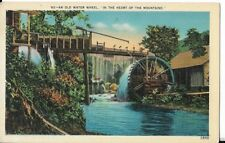 water wheel in the mountains postcard asheville nc publisher