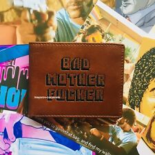 Pulp Fiction Jules BMF Best Brown Embroidered Leather Wallet (Bad Mother F*cker)