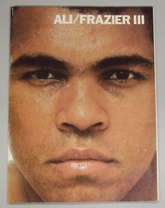 Muhammed Ali Vs. Joe Frazier III 1975 Official Souvenir Fight Program BC1916
