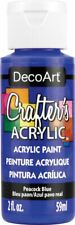 6 Pack-Crafter's Acrylic All-Purpose Paint 2oz-Peacock Blue -Dca-80