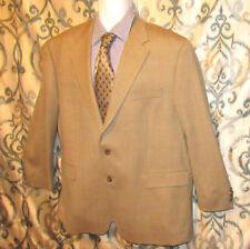 Ralph Lauren Mens 48 R 100% Wool Tan Herringbone/ Window Pane Blazer Sports Coat