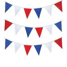 Empire Jour Blanc Rouge Bleu Fête Britannique Décorations Banderole Drapeaux
