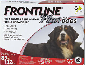 FRONTLINE Plus Flea & Tick Treatment X-Large Dogs Up to 89 - 132 lbs, 6 doses
