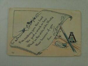 Vintage 1909 Poem, Oklahoma OK, Posted Divided Back Postcard