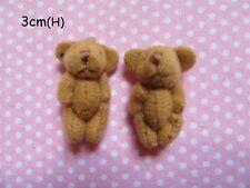 10 Cute Craft Teddy Bear 3cm Applique/doll/key-Tan AD026