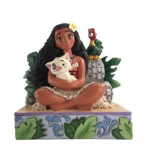 Jim Shore Disney Traditions Moana with Pua and Hei Hei 6008078