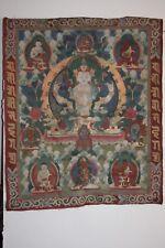Fine Thangka of Bodhisattva Avalokiteshvara Lokeshvar. - Tibet - 19th Century