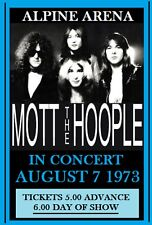 MOTT THE HOOPLE - ALPINE ARENA - PITTSBURGH PA. ALL THE YOUNG DUDES - IAN HUNTER